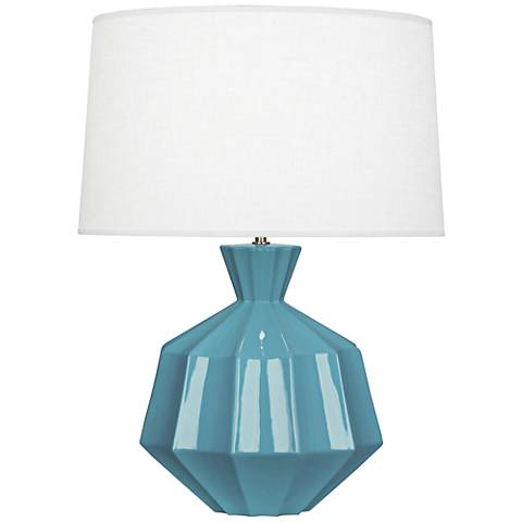 Robert Abbey Orion Steel Blue Ceramic Table Lamp