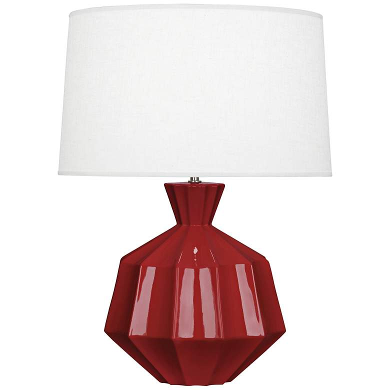"""Robert Abbey Orion 27"""" High Oxblood Red Ceramic Table Lamp"""