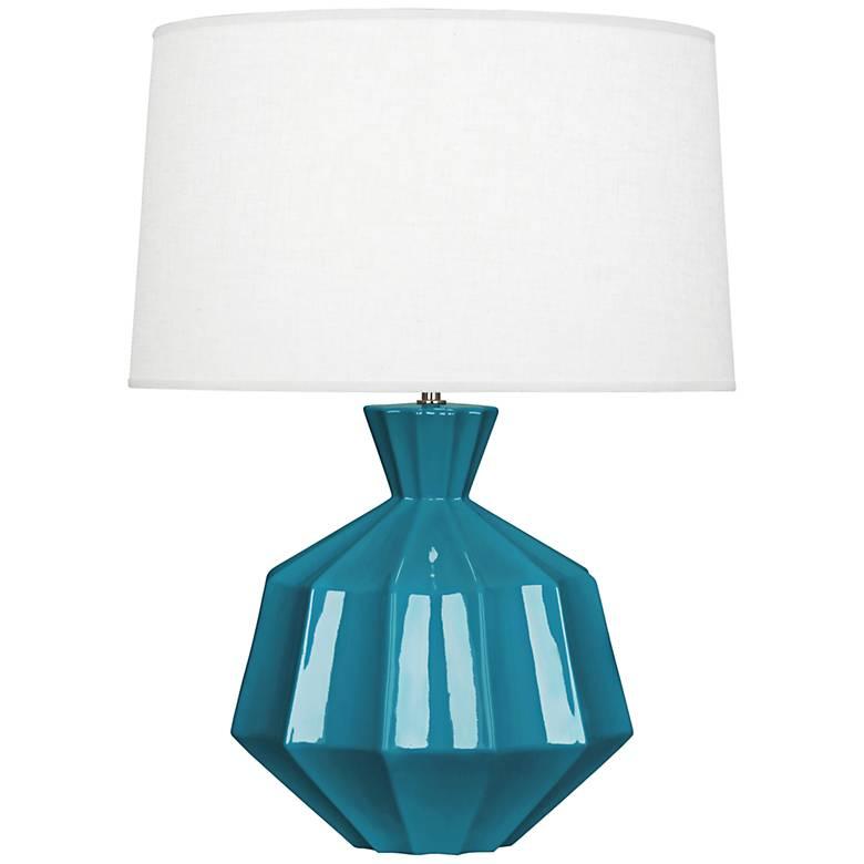 Robert Abbey Orion Peacock Ceramic Table Lamp