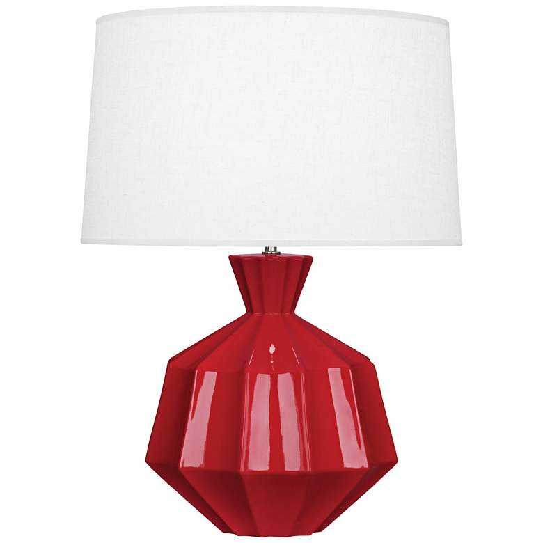 "Robert Abbey Orion 27"" Ruby Red Ceramic Table Lamp"