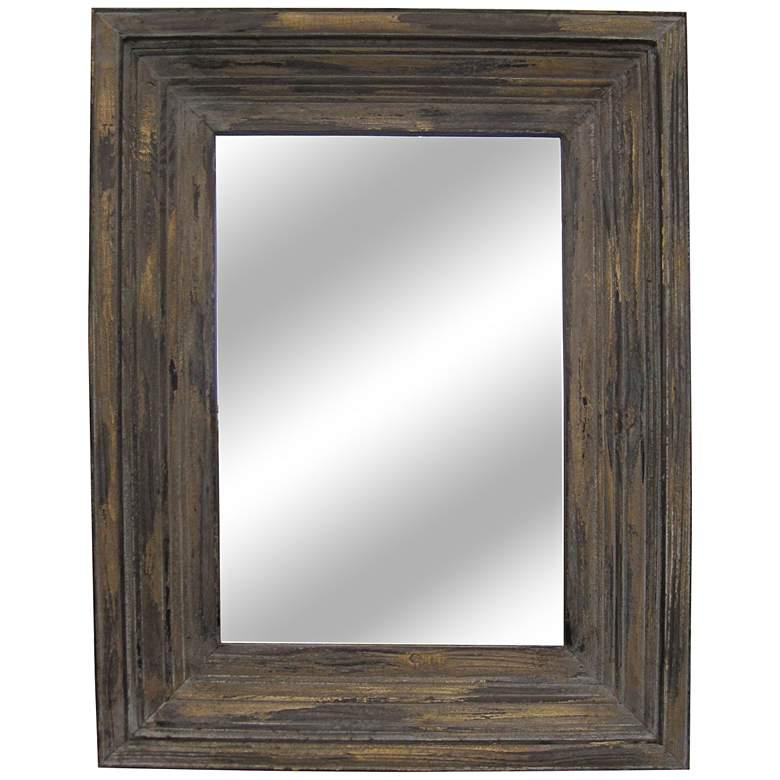 "Aden Distressed Wood 26 1/2"" x 34 1/2"" Wall Mirror"