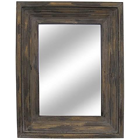 "Aden Distressed Wood 26 1/2"" x 34 1/2"" Mirror"