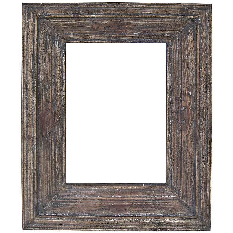 "Quentin Distressed Wood 28"" x 36"" Rectangular Wall Mirror"