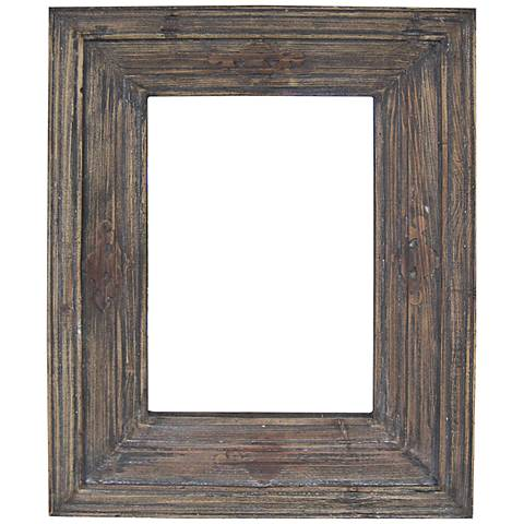 """Quentin Distressed Wood 28""""x36"""" Rectangle Wall Mirror"""