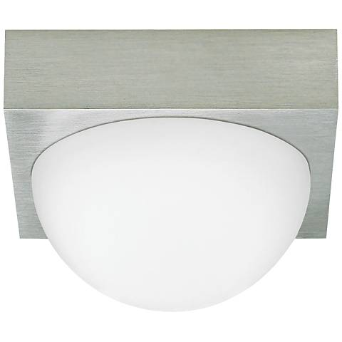 "LBL Sphere 4 3/4"" Wide Satin Nickel Frost LED Ceiling Light"
