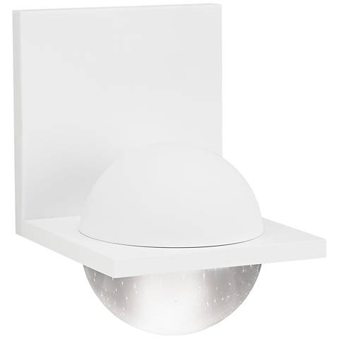 "LBL Sphere 6 3/4""H Rubberized White Clear LED Wall Sconce"