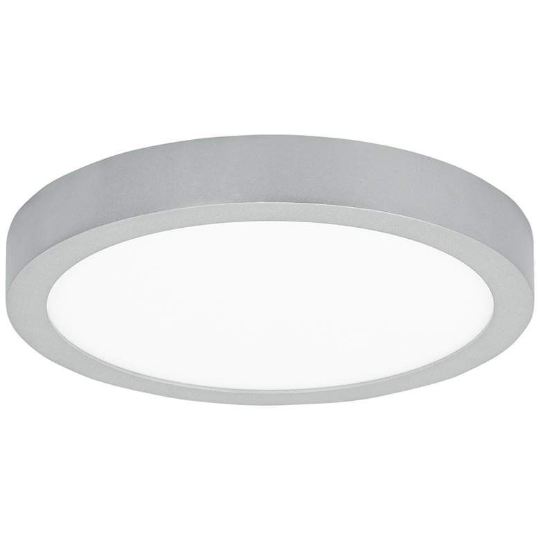 "Tenur Round 11 3/4"" Wide Silver LED Ceiling Light"