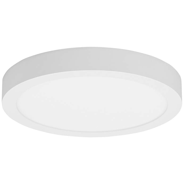 "Tenur Round 11 3/4"" Wide White LED Ceiling Light"