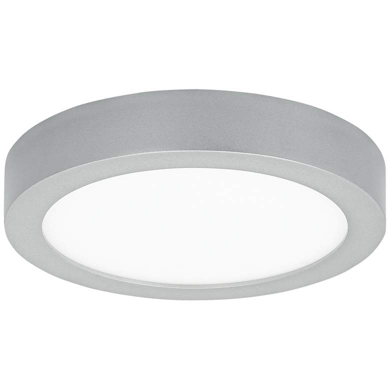 """Tenur Round 9 1/2"""" Wide Silver LED Ceiling Light"""