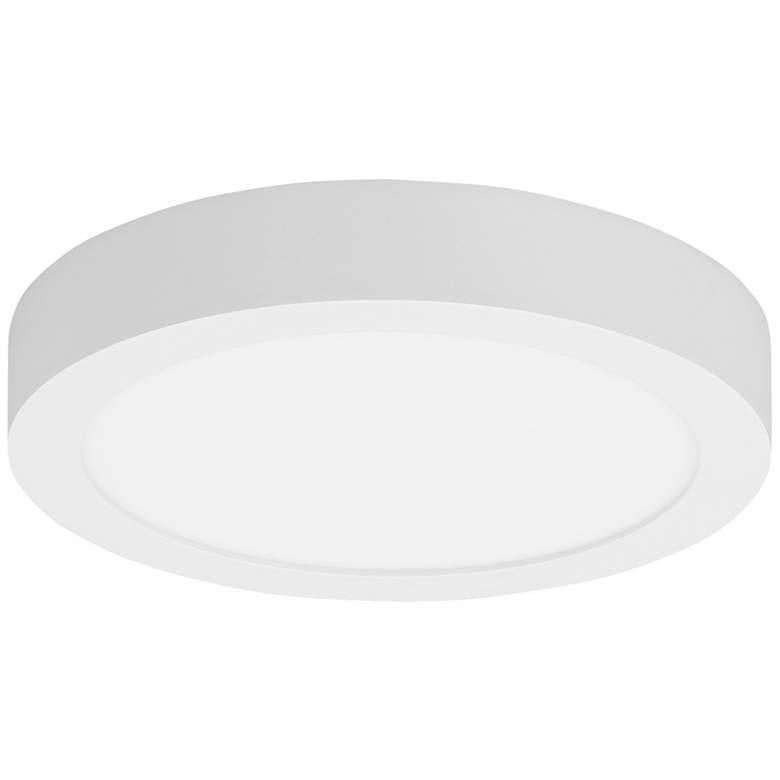 "Tenur Round 9 1/2"" Wide White LED Ceiling Light"