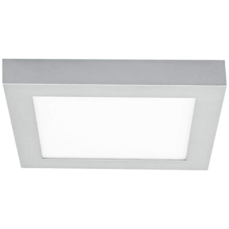 "Tenur Square 11 3/4"" Wide Silver LED Ceiling Light"