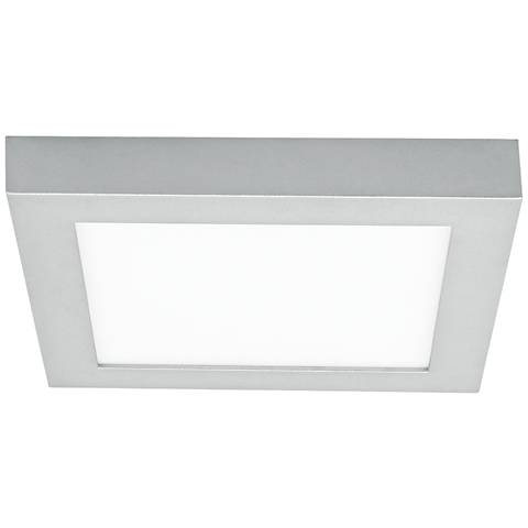 "LBL Tenur Square 11 3/4"" Wide Silver LED Ceiling Light"