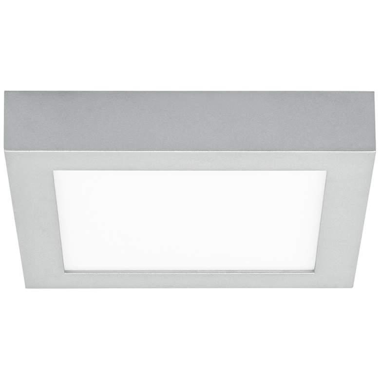 "Tenur Square 8 3/4"" Wide Silver LED Ceiling Light"