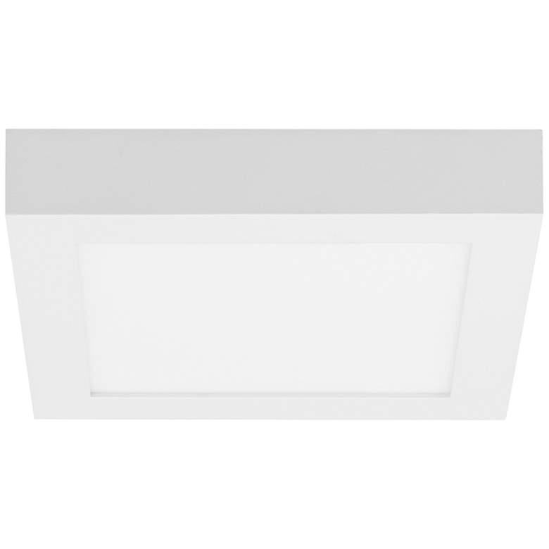 "TechTenur Square 8 3/4"" Wide White LED Ceiling Light"
