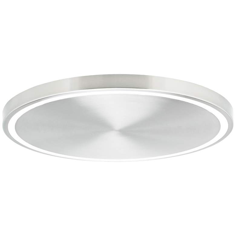 """Crest 20"""" Wide Satin Nickel LED Ceiling Light"""