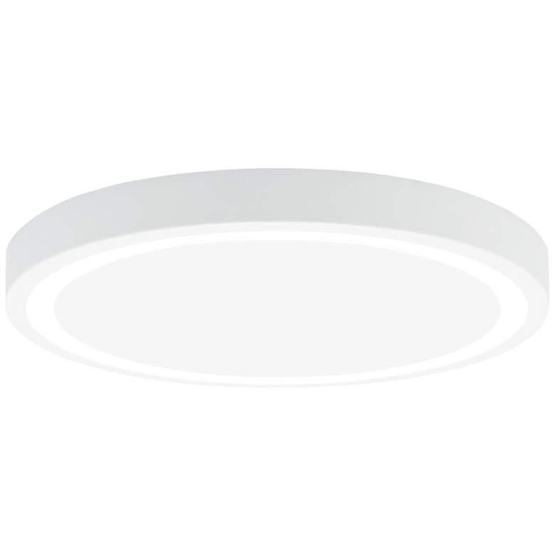 """Crest 12 1/4"""" Wide White LED Ceiling Light"""