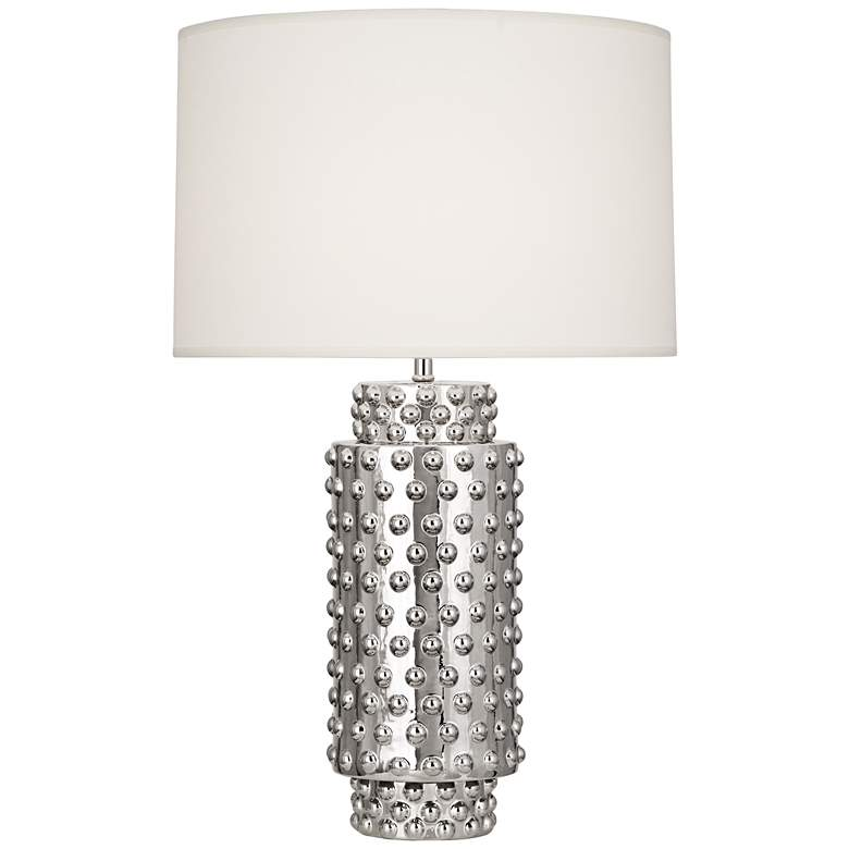 Robert Abbey Dolly White Shade Polished Nickel Table