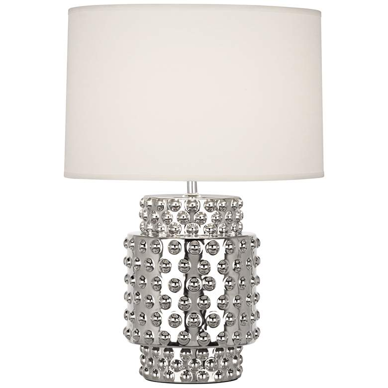 Robert Abbey Dolly White Shade Polished Nickel Accent
