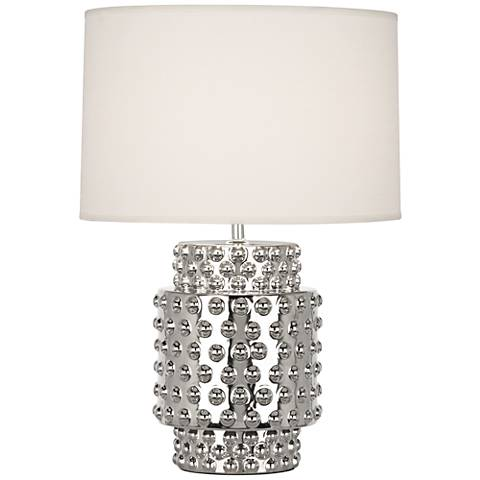 Robert Abbey Dolly White Shade Polished Nickel Accent Lamp