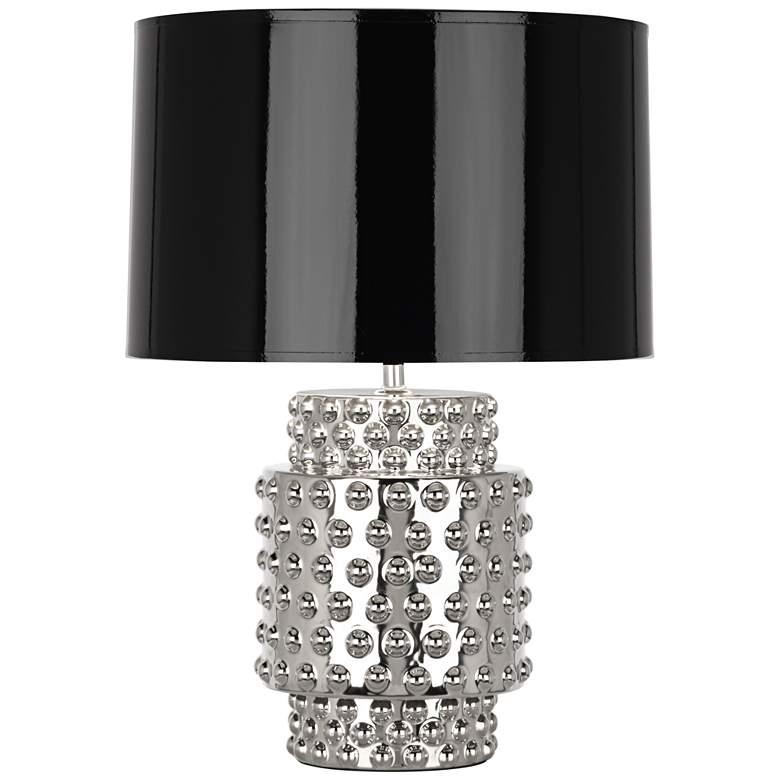 Robert Abbey Dolly Black Shade Polished Nickel Accent Lamp