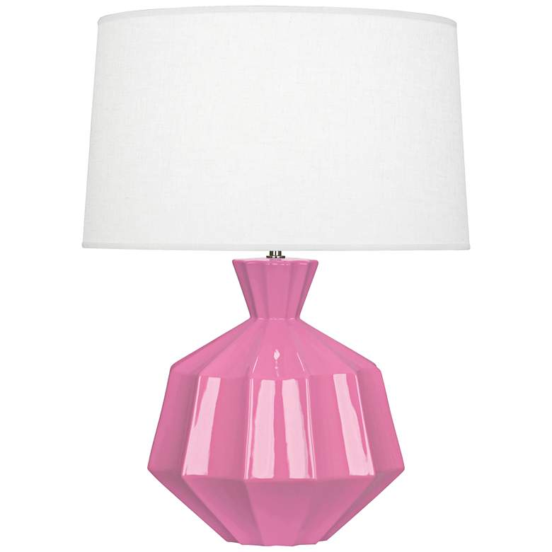 "Robert Abbey Orion 27"" Schiaparelli Pink Ceramic Table Lamp"