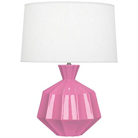 Robert Abbey Orion Schiaparelli Pink Ceramic Table Lamp