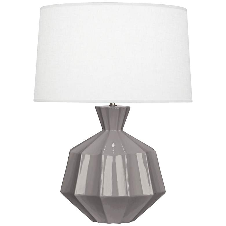 "Robert Abbey Orion 27"" Smokey Taupe Ceramic Table Lamp"