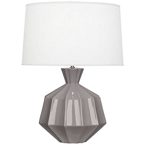 Robert Abbey Orion Smokey Taupe Ceramic Table Lamp