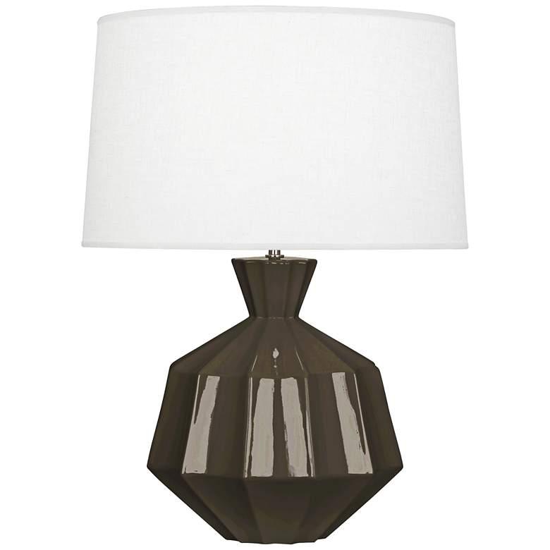 "Robert Abbey Orion 27"" Brown Tea Ceramic Table Lamp"