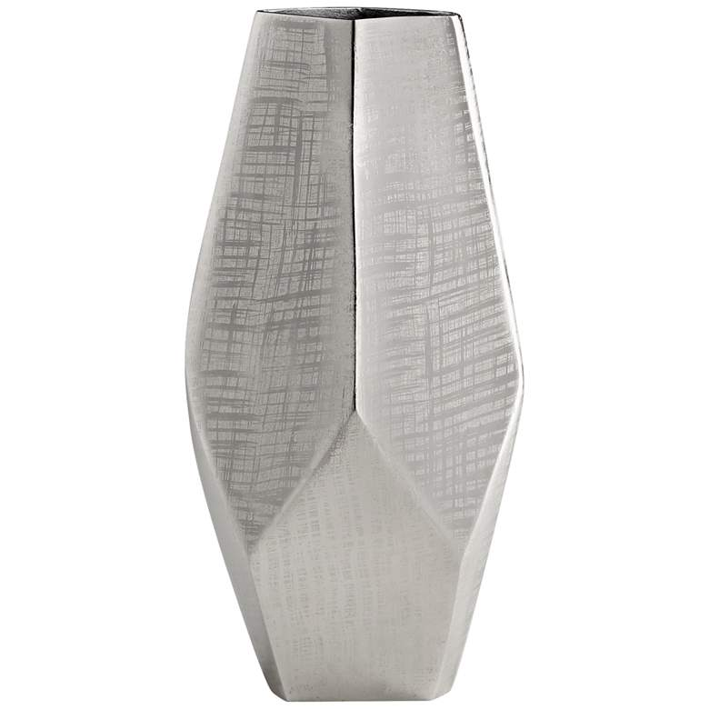 """Cyan Design Celcus Textured Nickel 15 3/4"""" High Small Vase"""