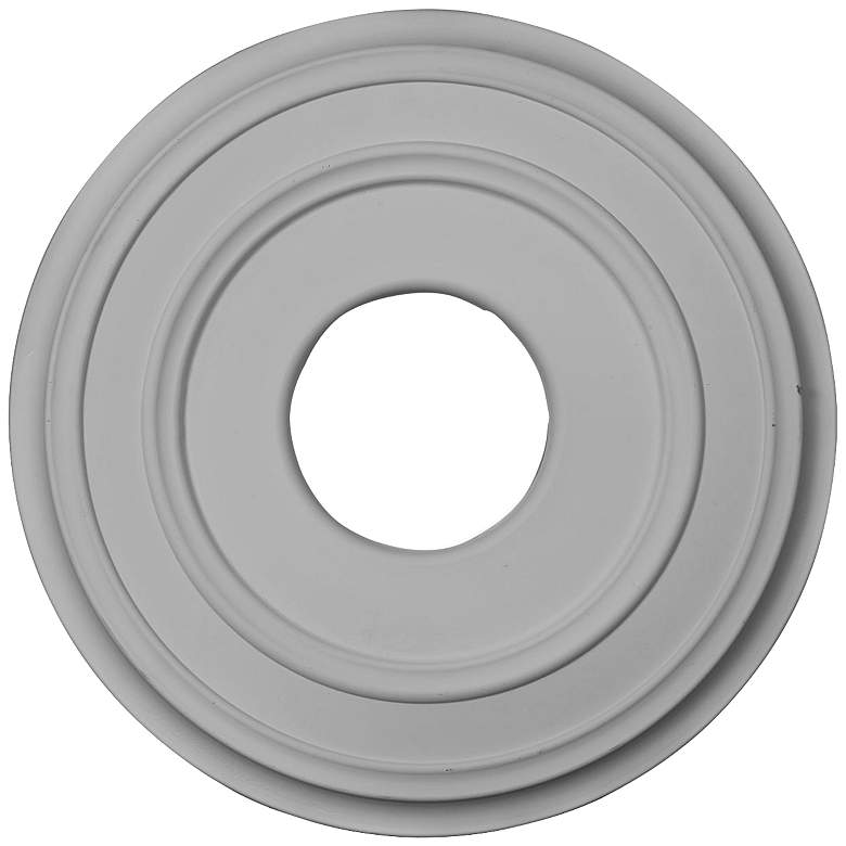 """Classic 12 1/2"""" Wide Primed Round Ceiling Medallion"""