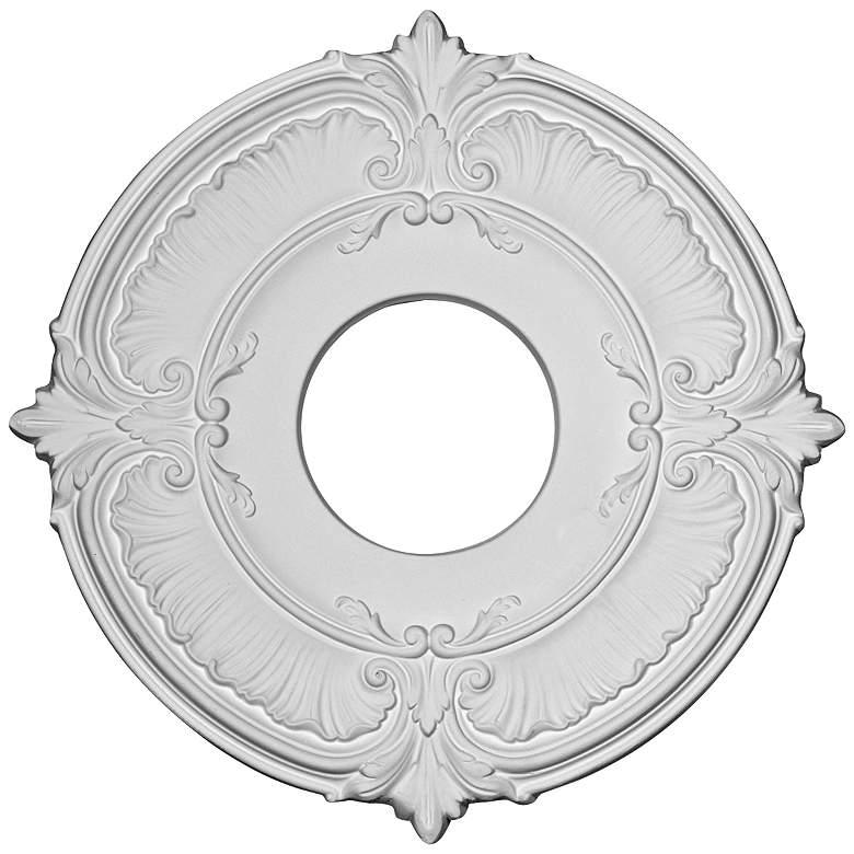 "Attica 12 3/4"" Wide Primed Round Ceiling Medallion"