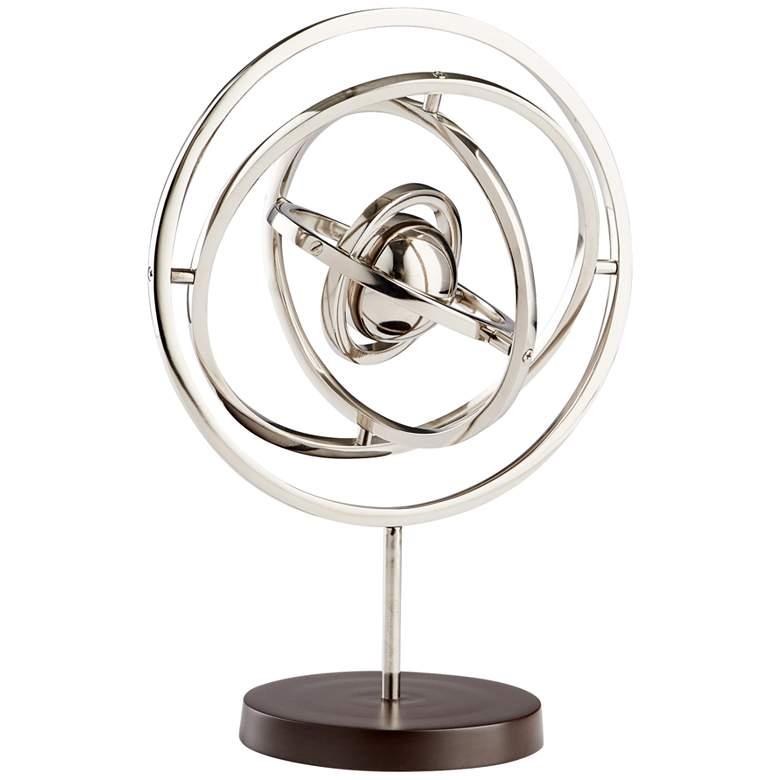 "Cyan Design Nebula 16 3/4"" High Nickel Sculpture"