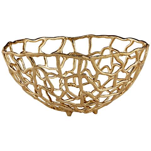 Cyan Design Enigma Gold Large Metal Decorative Bowl