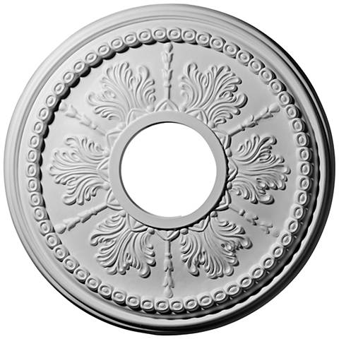 "Tirana 13 3/4"" Wide Primed Round Ceiling Medallion"