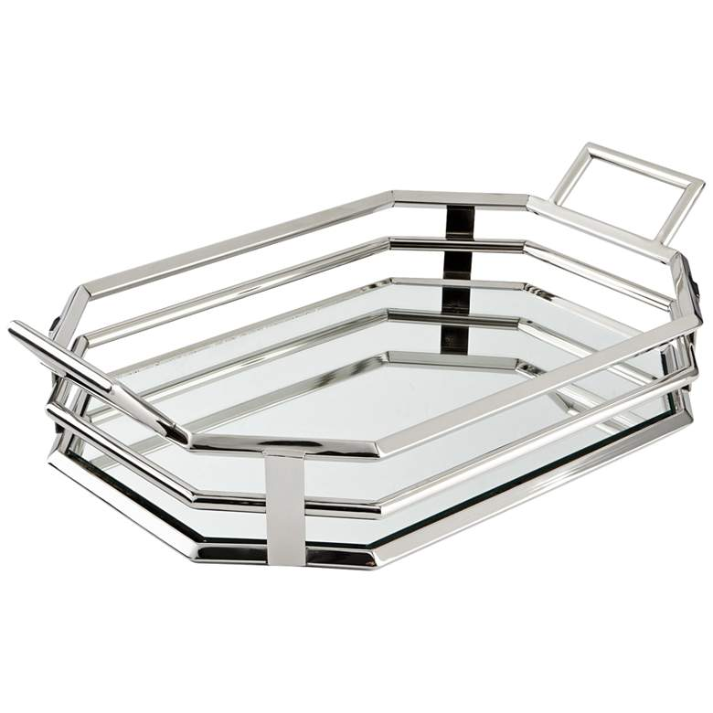 """Layers of Meaning 23"""" Wide Stainless Steel Serving"""
