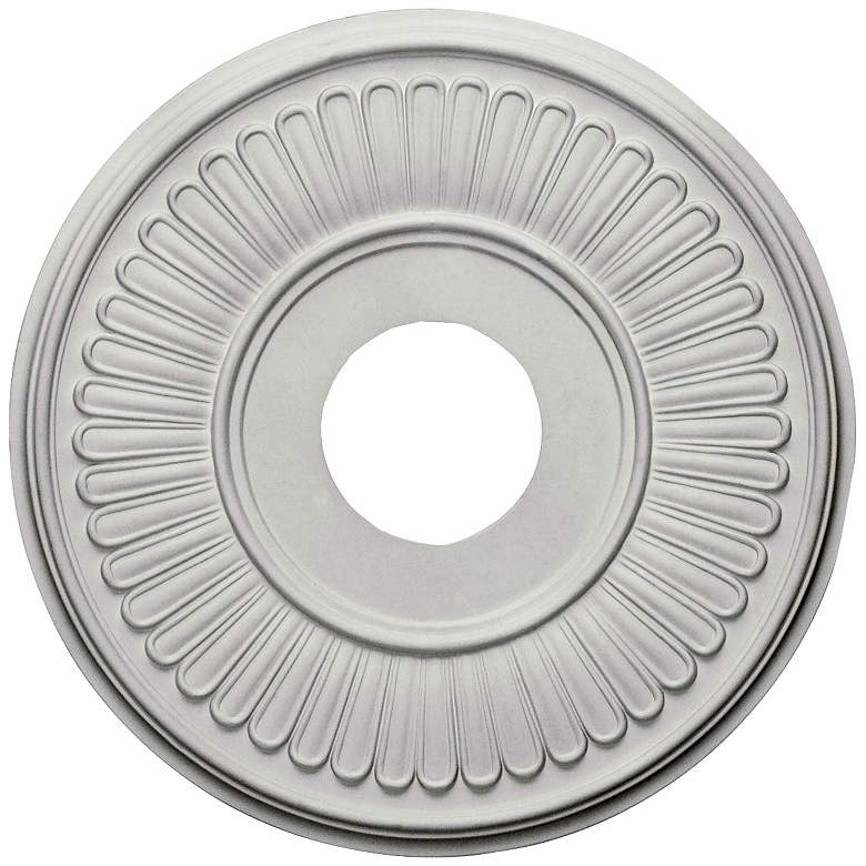 "Berkshire 15 3/4"" Wide Primed Round Ceiling Medallion"