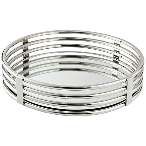 Layers of Meaning Stainless Steel Round Tray