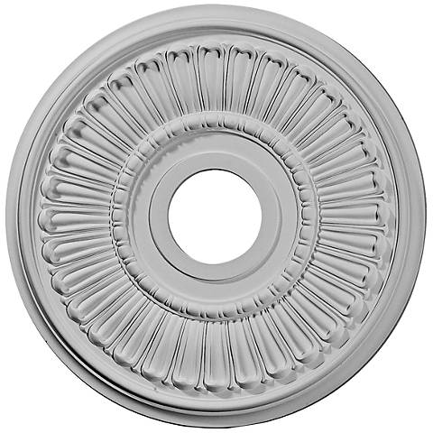"Melonie 16"" Wide Primed Round Ceiling Medallion"