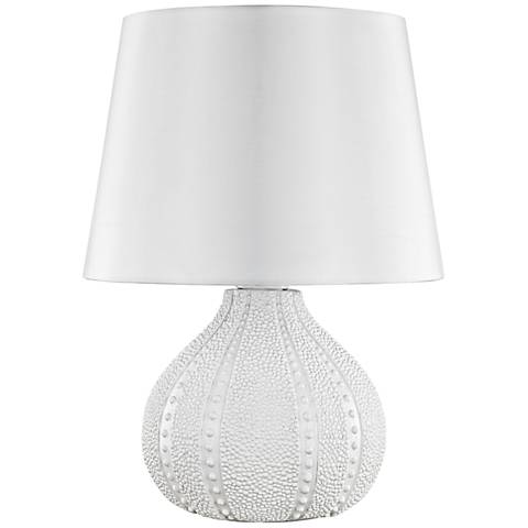 "Aruba White 19"" High Outdoor Accent Table Lamp"