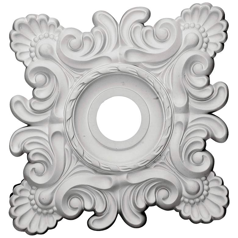"""Crawley 18"""" Wide Primed Square Ceiling Medallion"""