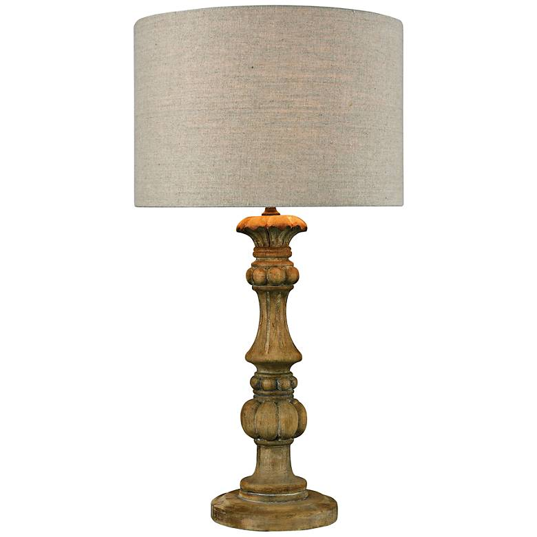 Haute-Vienne Natural Stain Table Lamp