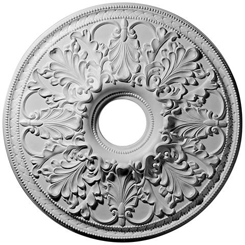 "Ashley 23 3/4"" Wide Primed Round Ceiling Medallion"