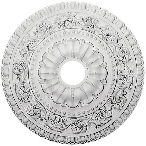 "Vaduz 23 1/2"" Wide Primed Round Ceiling Medallion"