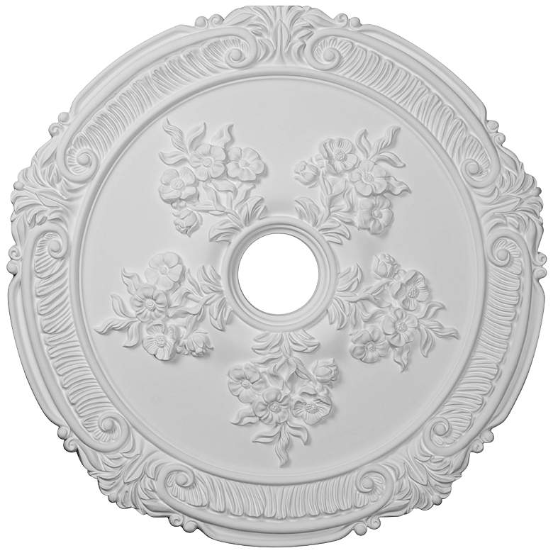 """Attica with Rose 26"""" Wide Primed Round Ceiling Medallion"""