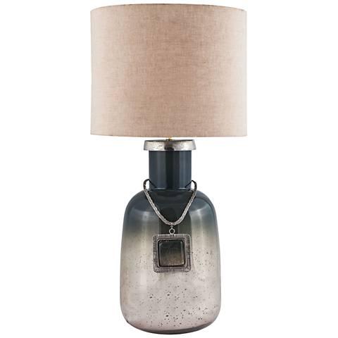 Iceland Metallic Slate Mercury Glass Table Lamp