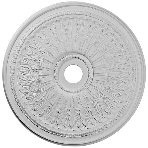 "Oakleaf 29 1/4"" Wide Primed Round Ceiling Medallion"