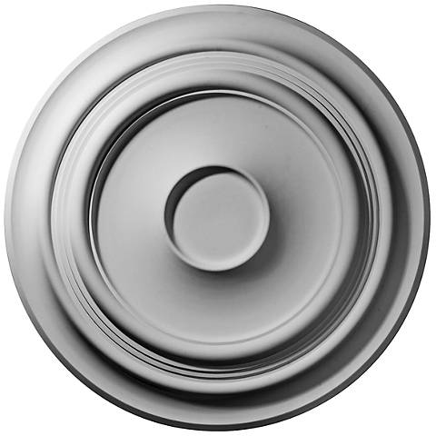 "Giana 32 3/4"" Wide Primed Round Ceiling Medallion"