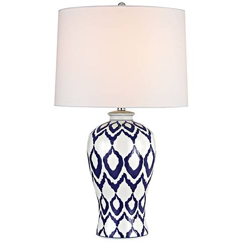 Kew Blue and White Glaze Ceramic Table Lamp