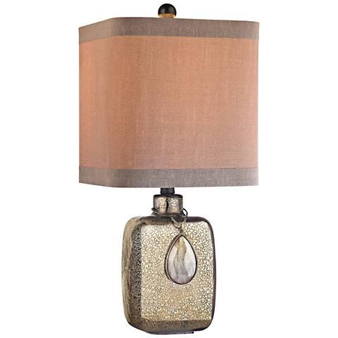 Cadiz Bronze Mercury Glass Table Lamp